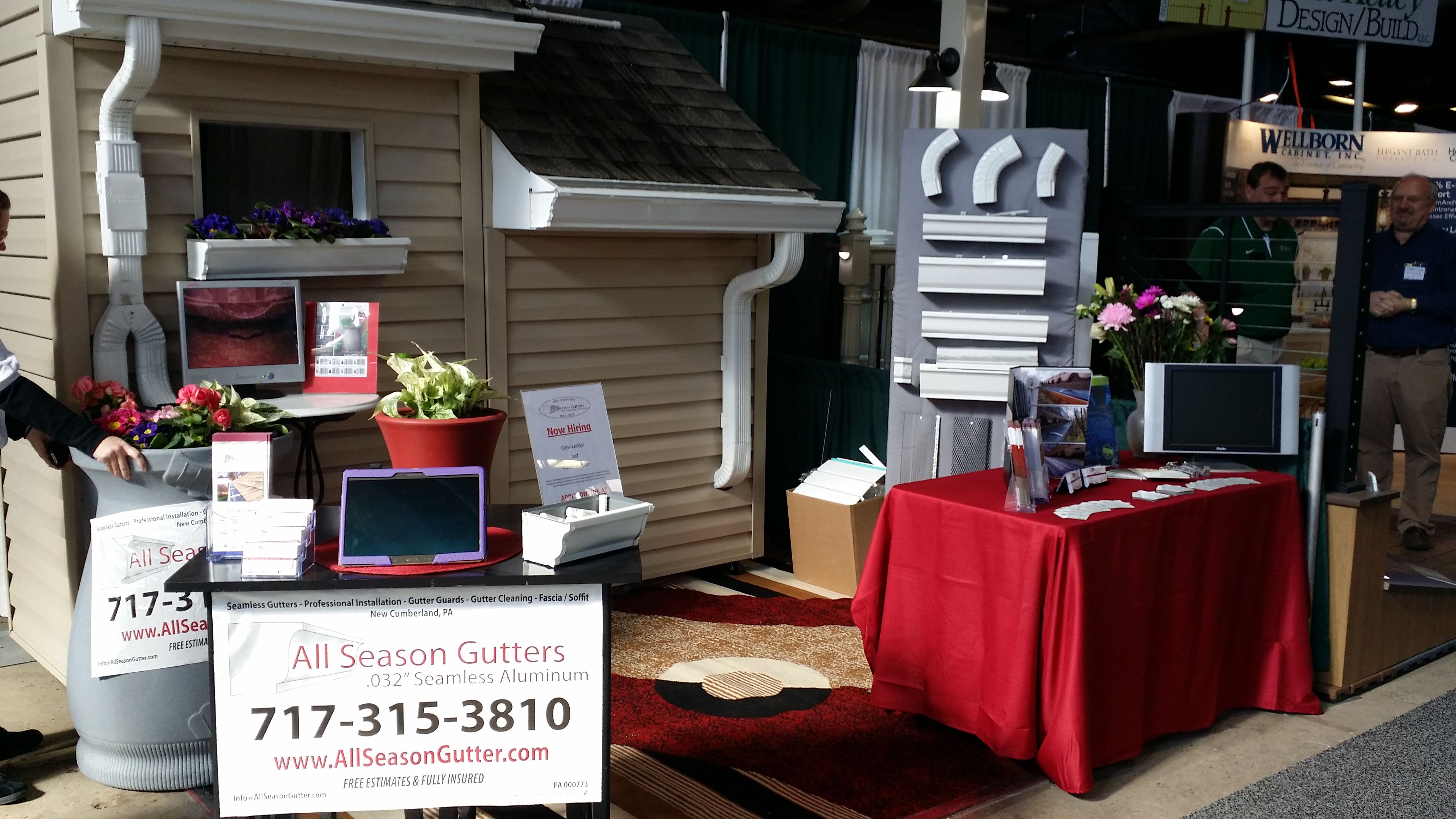 Just a corner view of the booth before showtime rain