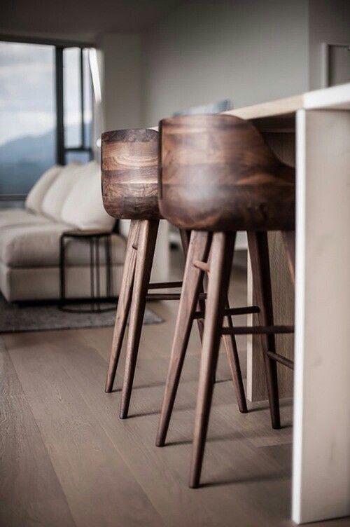 Random Inspiration 131 Architecture Cars Style Gear Wooden Bar Stools Interior Furniture Kitchen Stools