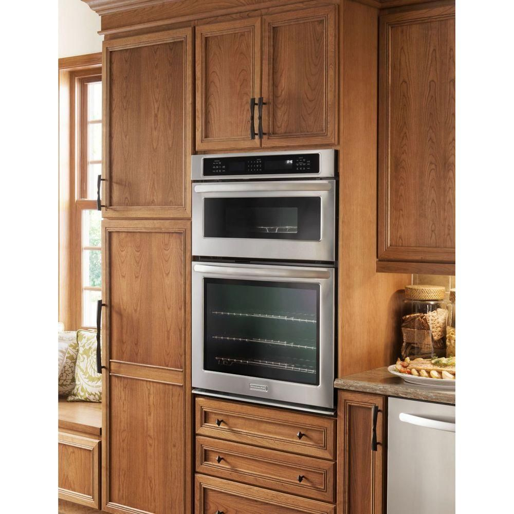 KitchenAid Architect Series II 30 In. Electric Convection Wall Oven With  Built In Microwave