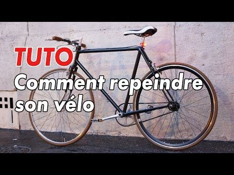 Tuto - Comment repeindre son vélo #comment #repeindre Travaux