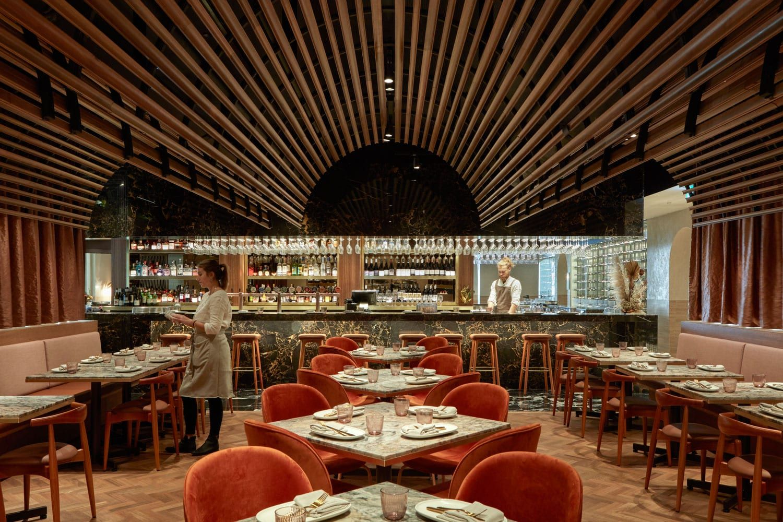 Babylon Restaurant in Westfield Sydney by Hogg & Lamb