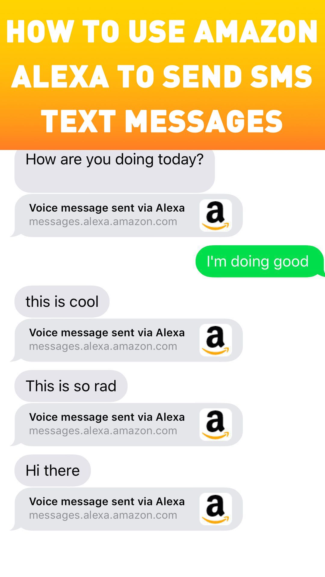 How to use Amazon Alexa to send SMS text messages Text