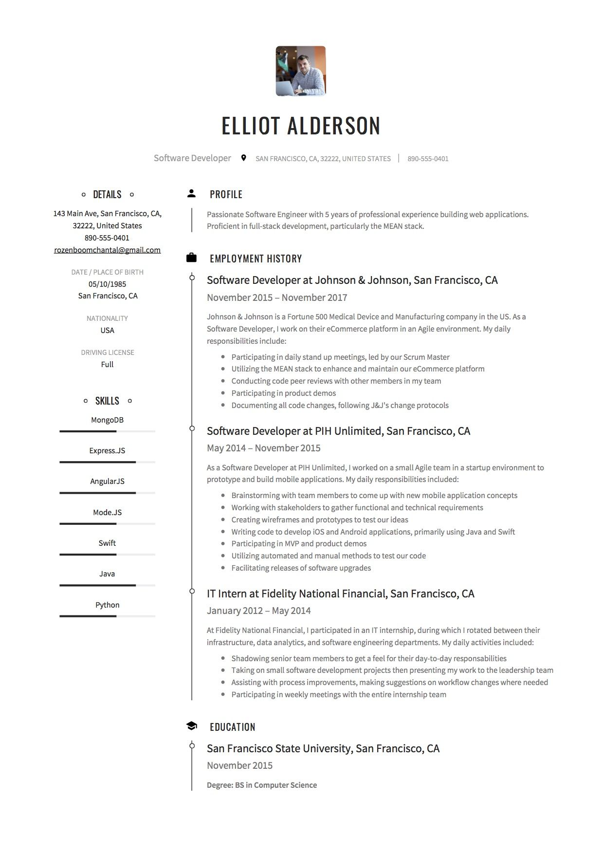 Guide Software Developer Resume [+12 Samples] Full