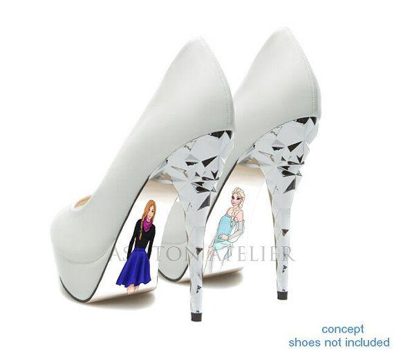 shoes, Disney high heels