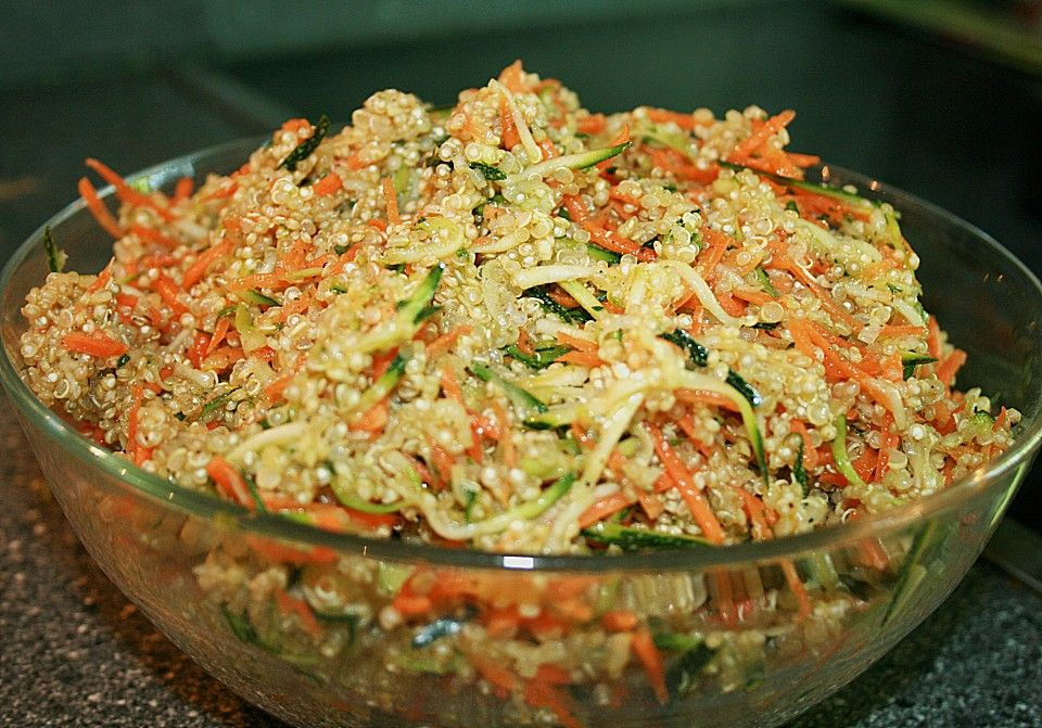 Quinoa Salat mit Möhre und Zucchini Quinoa salat, Quinoa und Möhren - chefkoch schnelle küche