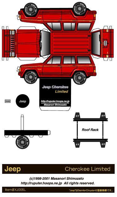 Desenhos para colorir em Geral: Paper Toy | Jeep | Pinterest | Paper ...