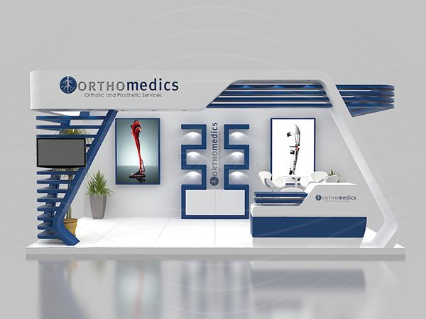 Exhibition Stall Design Templates : Orthomedics booth on behance d pinterest