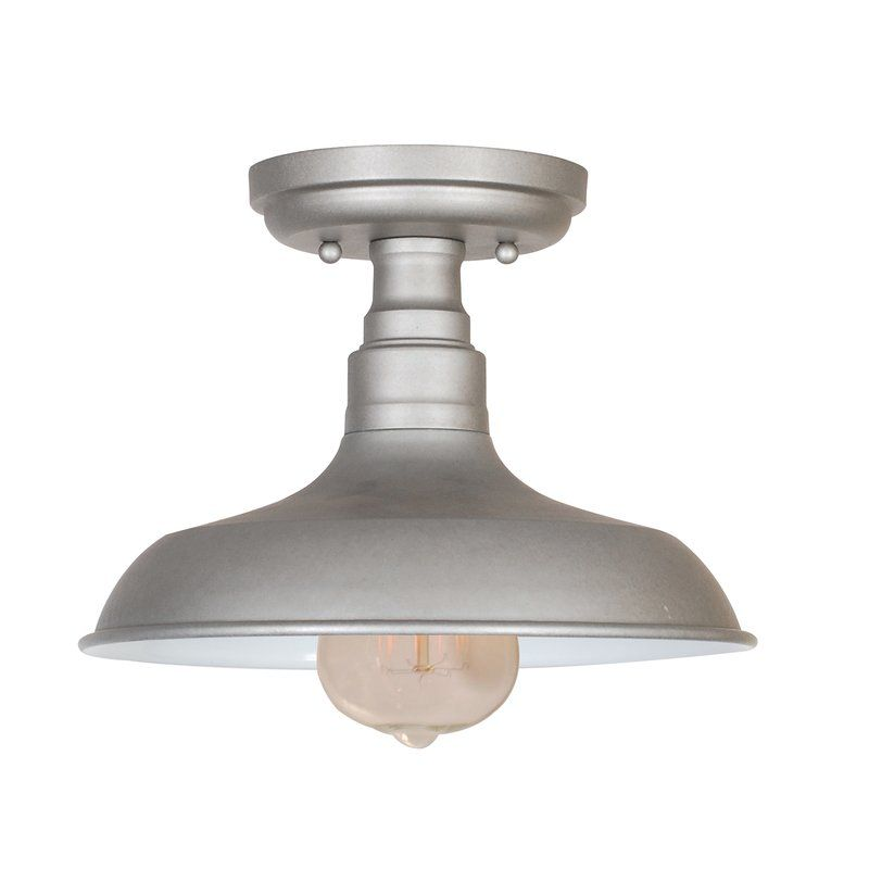 Laurel Foundry Modern Farmhouse Stephine 1 Light Semi Flush Mount Reviews