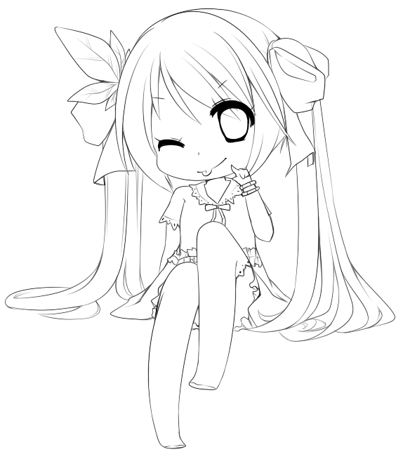 World Is Mine Free Lineart By Roi Tan On Deviantart Chibi Coloring Pages Anime Lineart Kawaii Art