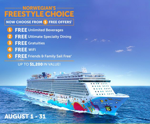 Five Great offers - http://www.cruiseshipcenters.ca/jeanninepringle