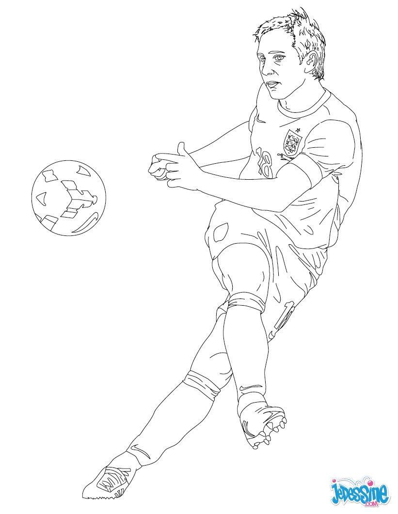 Coloriage du joueur de foot Frank Lampard € imprimer gratuitement ou colorier en ligne sur