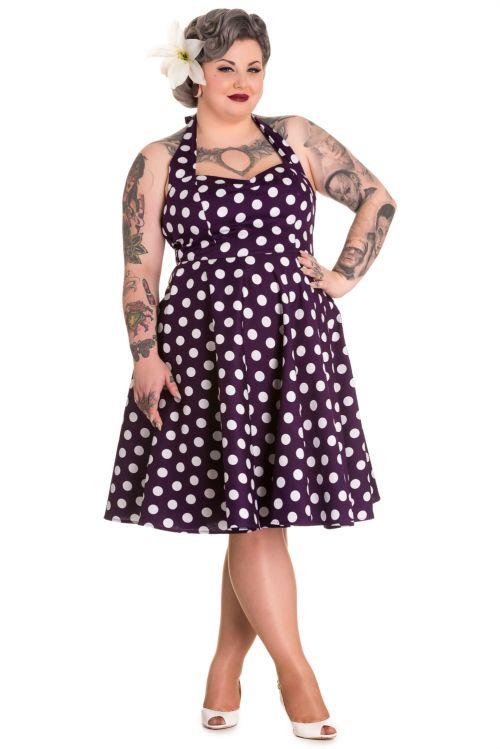 ec26a470fb4 Domino Dollhouse - Plus Size Clothing  Mariam Dress in Amethyst ...