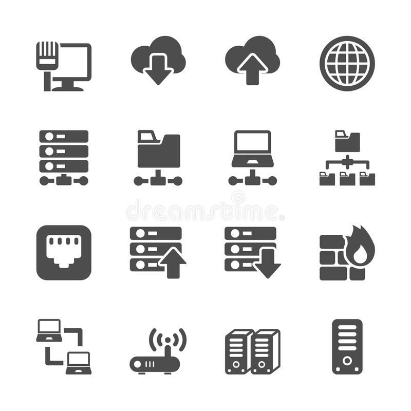 Network And Server Icon Set Vector Eps10 Aff Icon Server Network Vector Set Ad Icon Set Icon Set Vector Icon