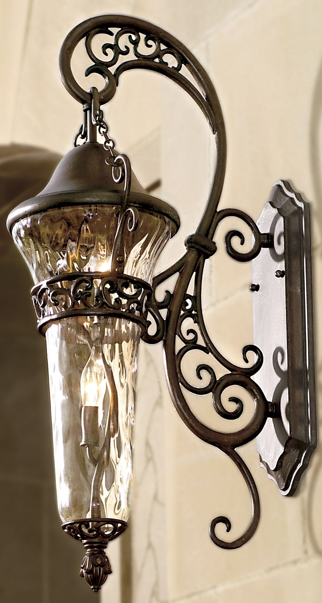 Our Anastasia Outdoor Lighting Features Sweeping Curves And
