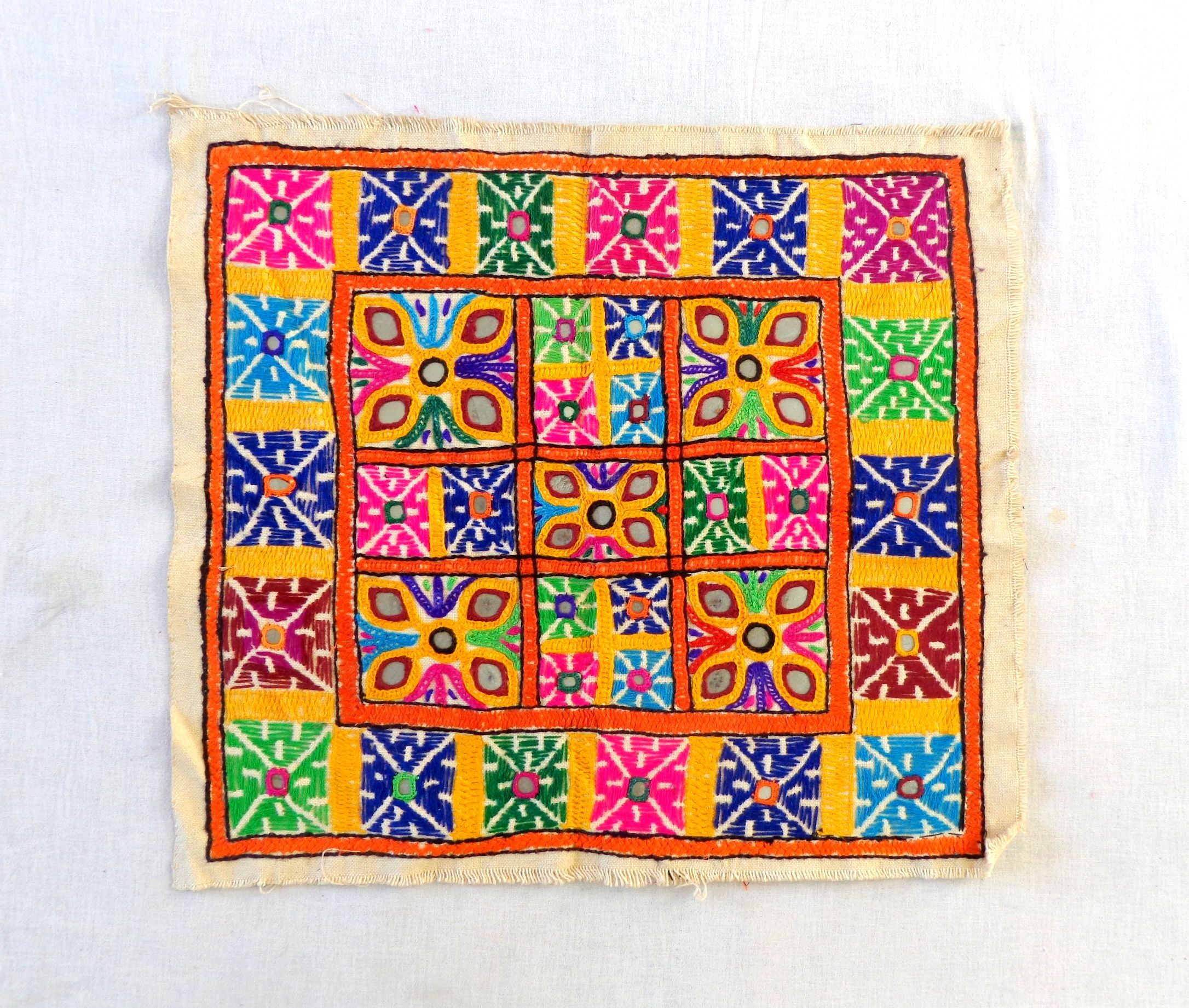 1960s Kutch embroidery Patch Gujarati Rabari embroidery patch