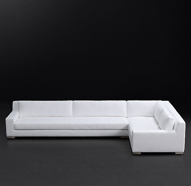 Modena Track Arm Fabric Right Arm L Sectional Fabric