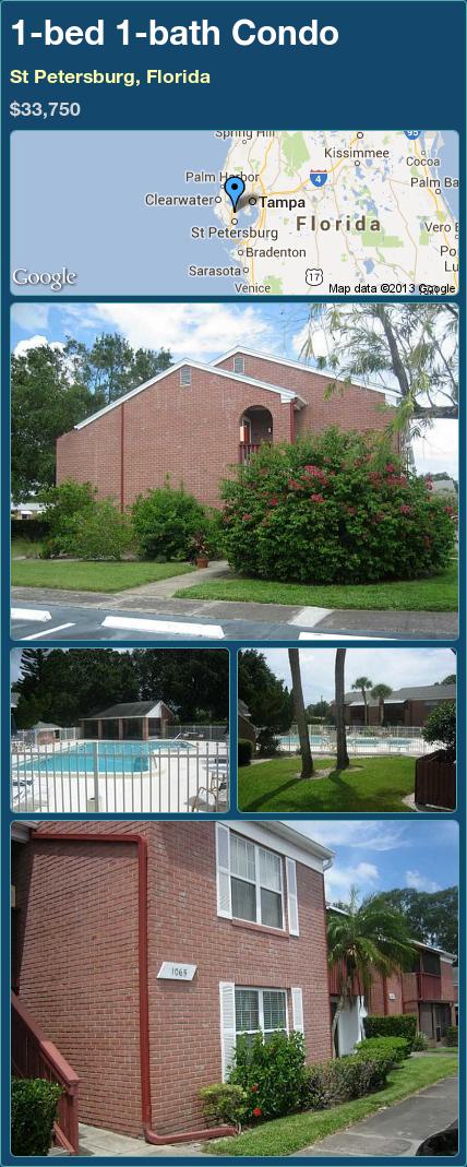 1-bed 1-bath Condo in St Petersburg, Florida ►$33,750 #PropertyForSale #RealEstate #Florida http://florida-magic.com/properties/12345-condo-for-sale-in-st-petersburg-florida-with-1-bedroom-1-bathroom