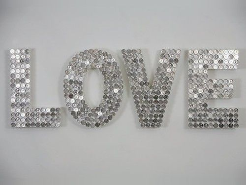 Glass Letters For Wall So Cool  Maybe With Mirror Mosaic Or Glass Stones With Varying