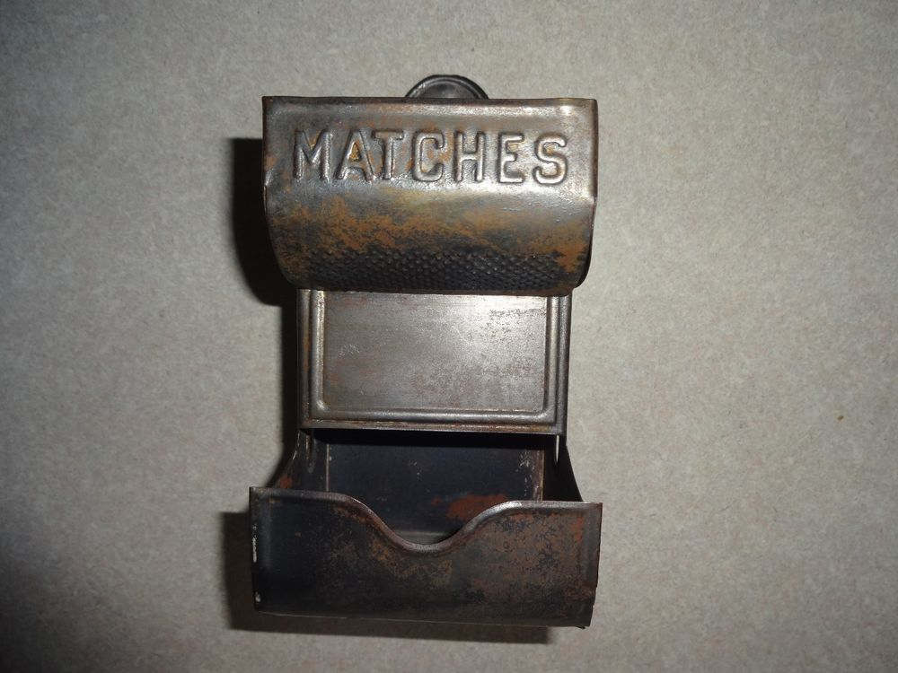 Vintage Match Holder in Antiques, Decorative Arts, Metalware   eBay