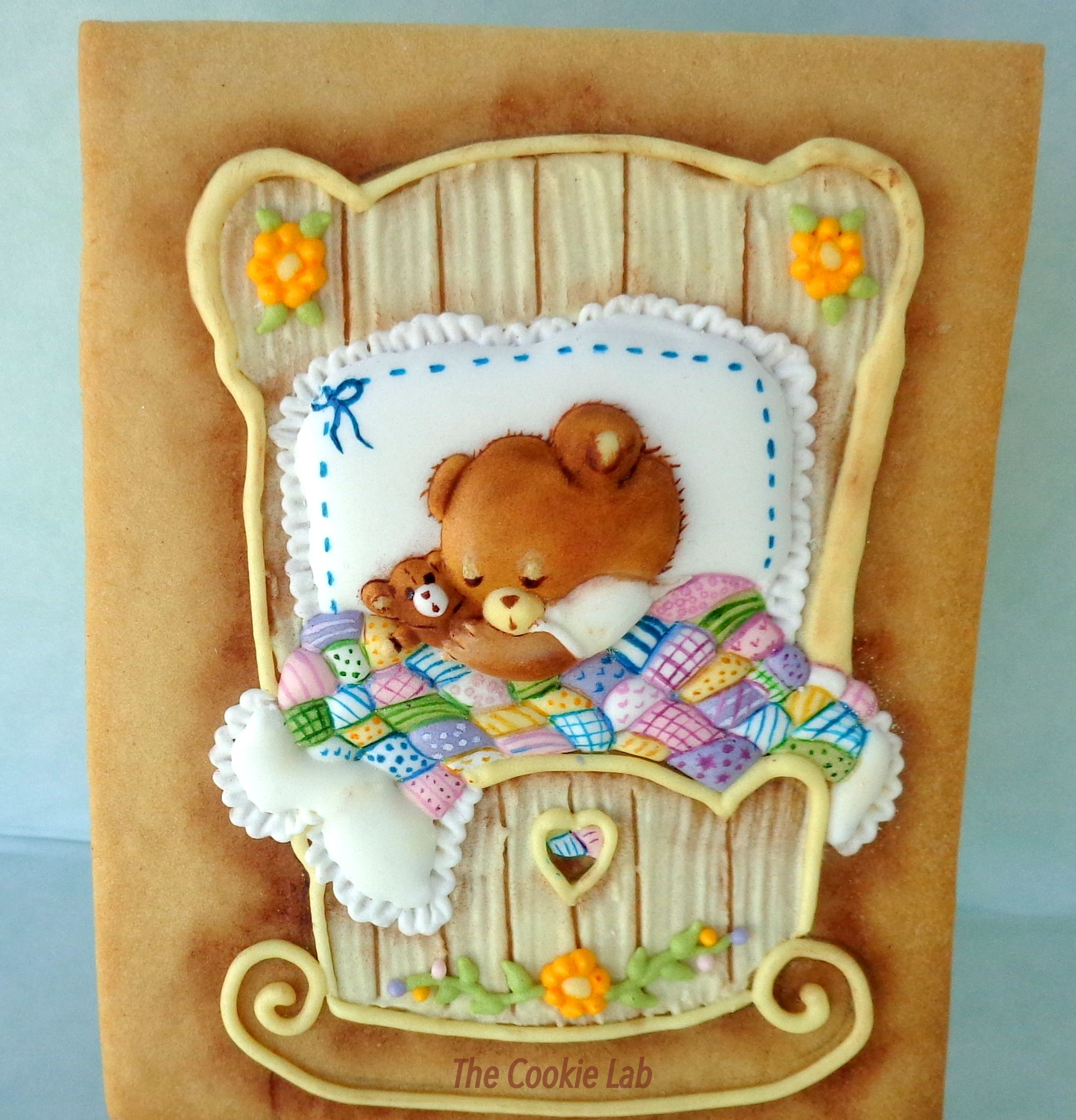Sleeping Baby! - Royal Icing decorated cookie with several techniques