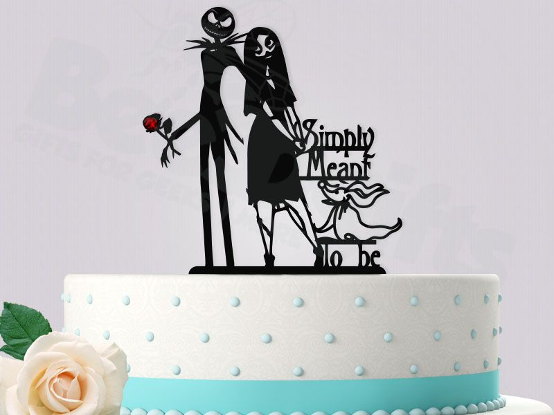 Jack and Sally Red Rose Simply Meant To Be with Zero Nightmare