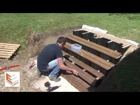 MODULESCA - Montage d\u0027un escalier extérieur en bois - YouTube