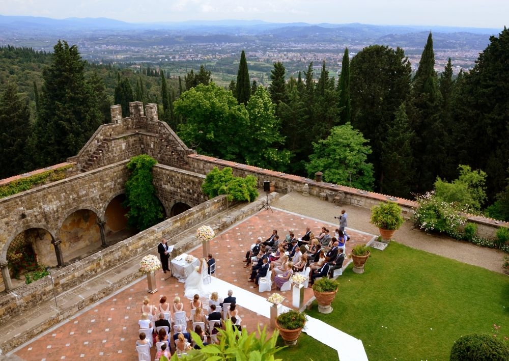 romantic castle wedding in tuscany by ...