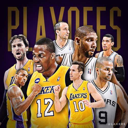 LA Lakers Vs San Antonio Spurs In NBA Playoff 2013