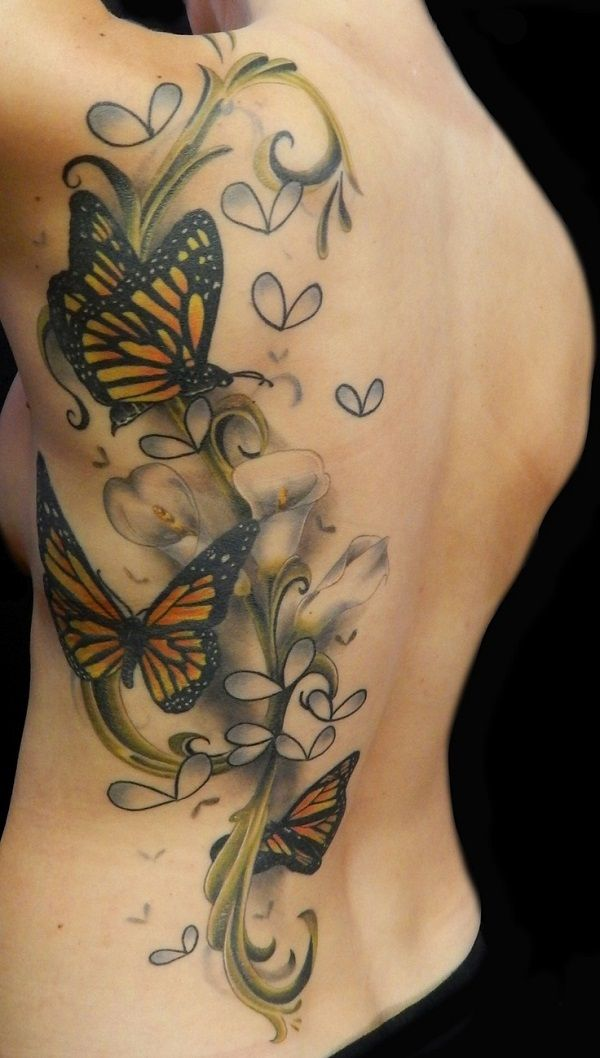 Sexy 3d butterfly tattoo designs