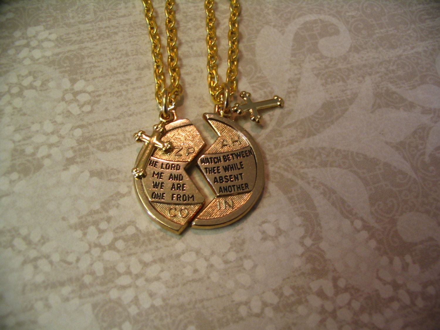 Religious Mizpah Necklaces with Cross for by AccentTreasures, $21.99