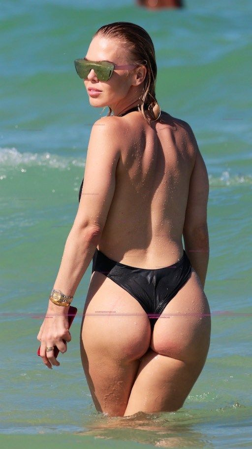 Bianca Elouise In a Thong Swimsuit