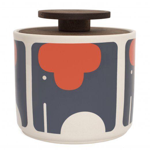 Orla Kiely Elephant Storage Jar 1 Litre From