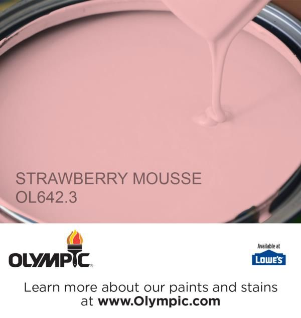 STRAWBERRY MOUSSE OL642.3 is a part of the reds collection by Olympic® Paint.