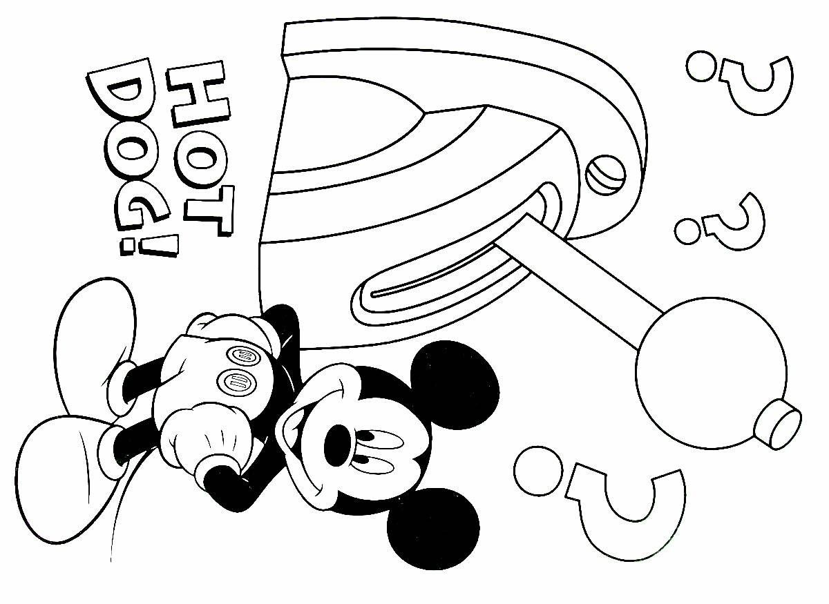 Pin On Mickey Mouse Coloring Book Pages