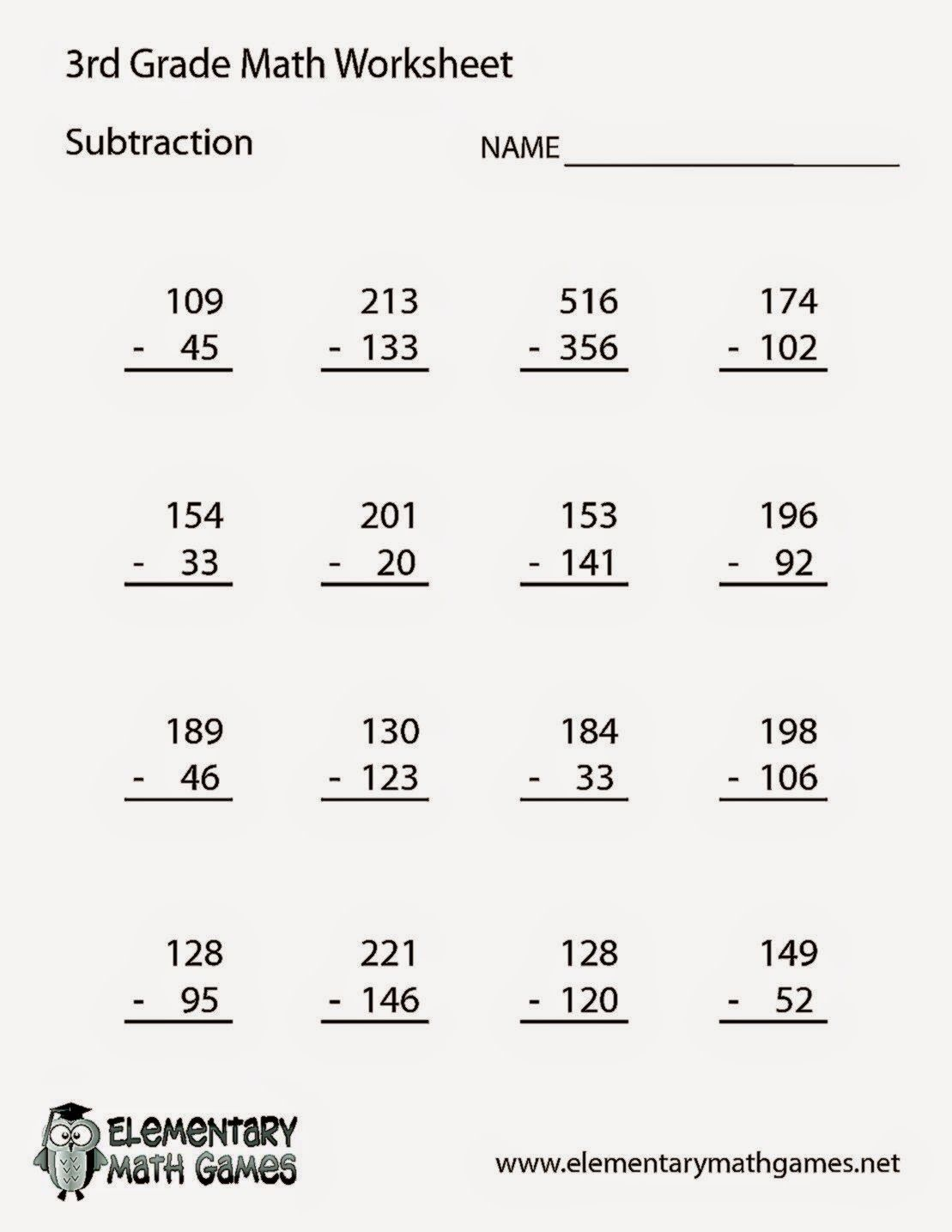 3rd Grade Math Worksheets With Images