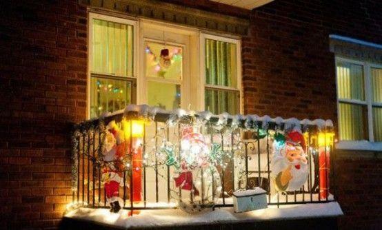 Christmas Balcony Décor Ideas | Christmas Decor, Apartment Christmas And  Christmas 2017