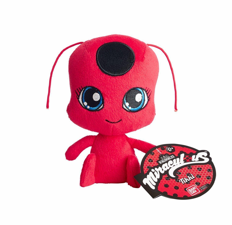 """Bandai Miraculous Ladybug Tikki Kwamii 6"""" Plush Toy"""