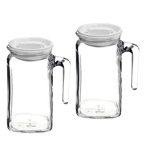 Bormioli Rocco Frigoverre Glass Jug With Hermetic Frosted Lid Undefined In 2020 Glass Jug Bormioli Rocco Glass