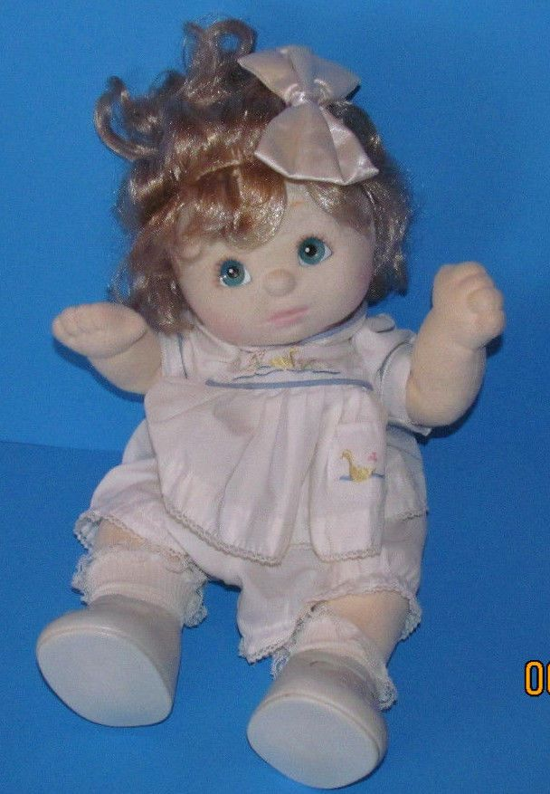 Beautiful Vintage Mattel My Child doll w/ blonde curly hair, original outfit