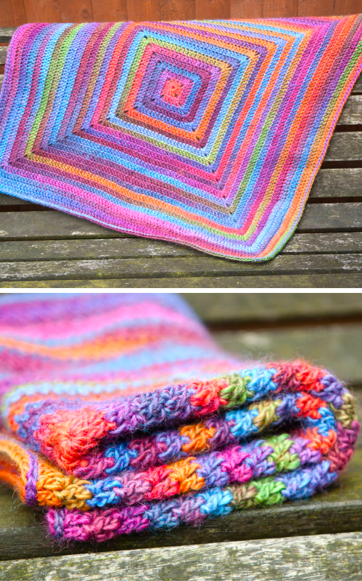 Continuous Crochet Baby Blanket (Preemie/Car Seat)   Baby blankets ...