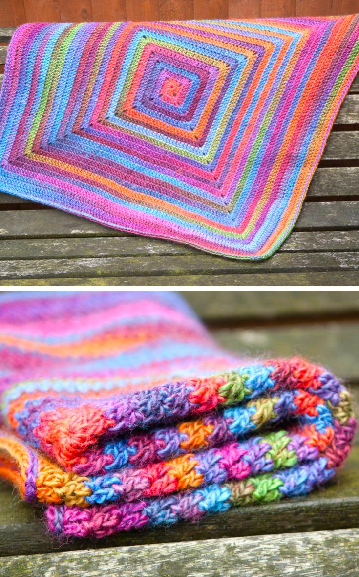 Continuous Crochet Baby Blanket (Preemie/Car Seat) | Stricken häkeln ...