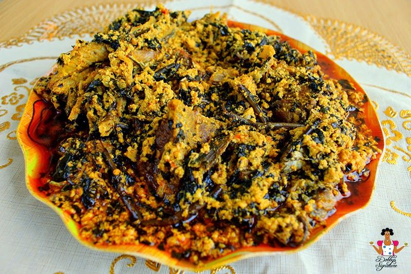 Egusi Soup Recipe With Bitter Leaf Egusi Soup Recipes African Food Nigeria Food