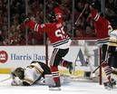 Game 1 photos: Hawks 4, Bruins 3 (3 OT) -- Chicago Tribune