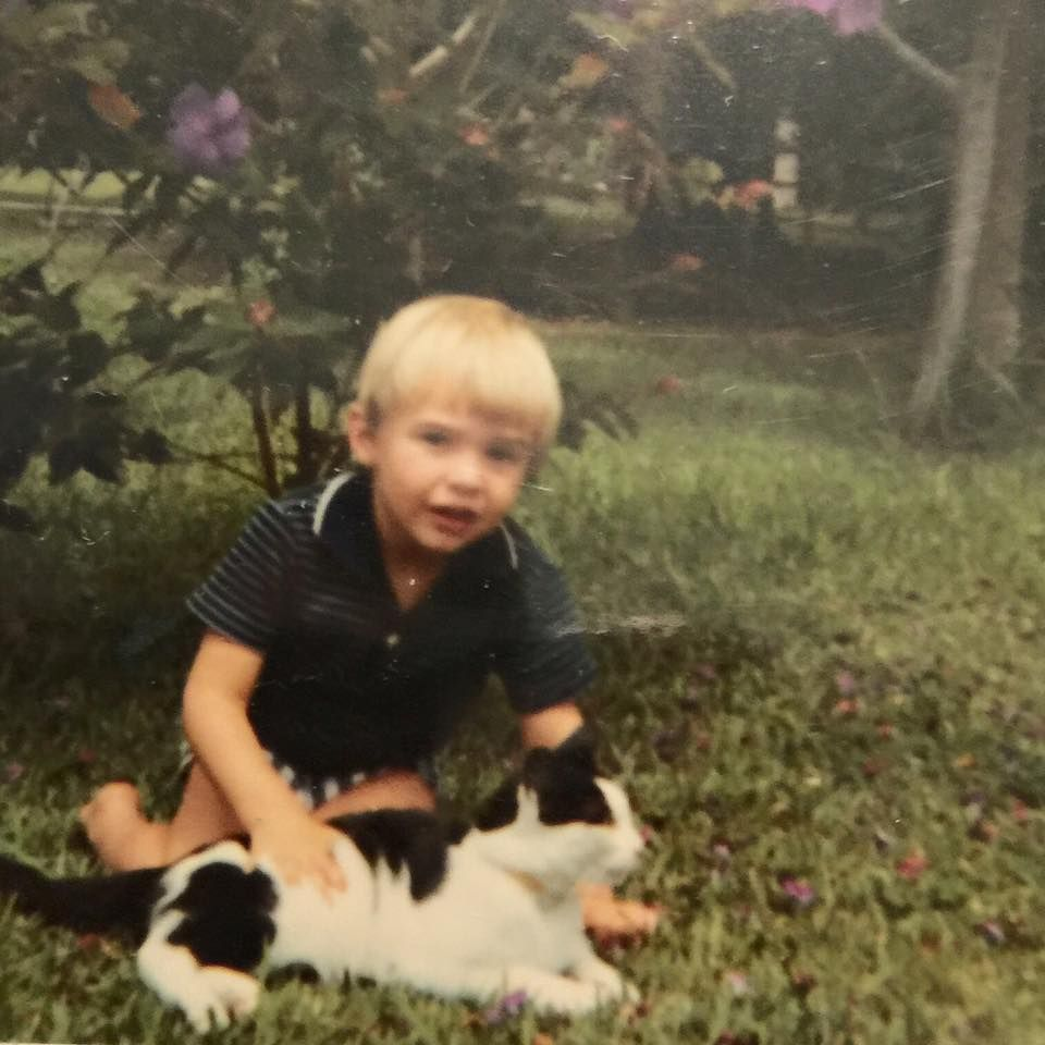 Circa 1970. Me and Sooty. #tbt