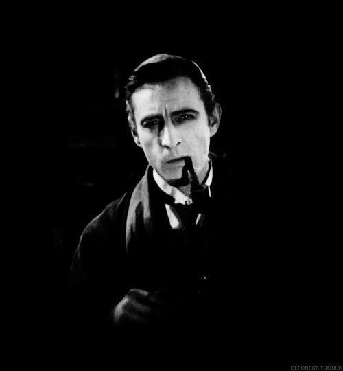 John Barrymore S Films John Barrymore As Sherlock Holmes 1922 Film The Barrymores Charakterdesign
