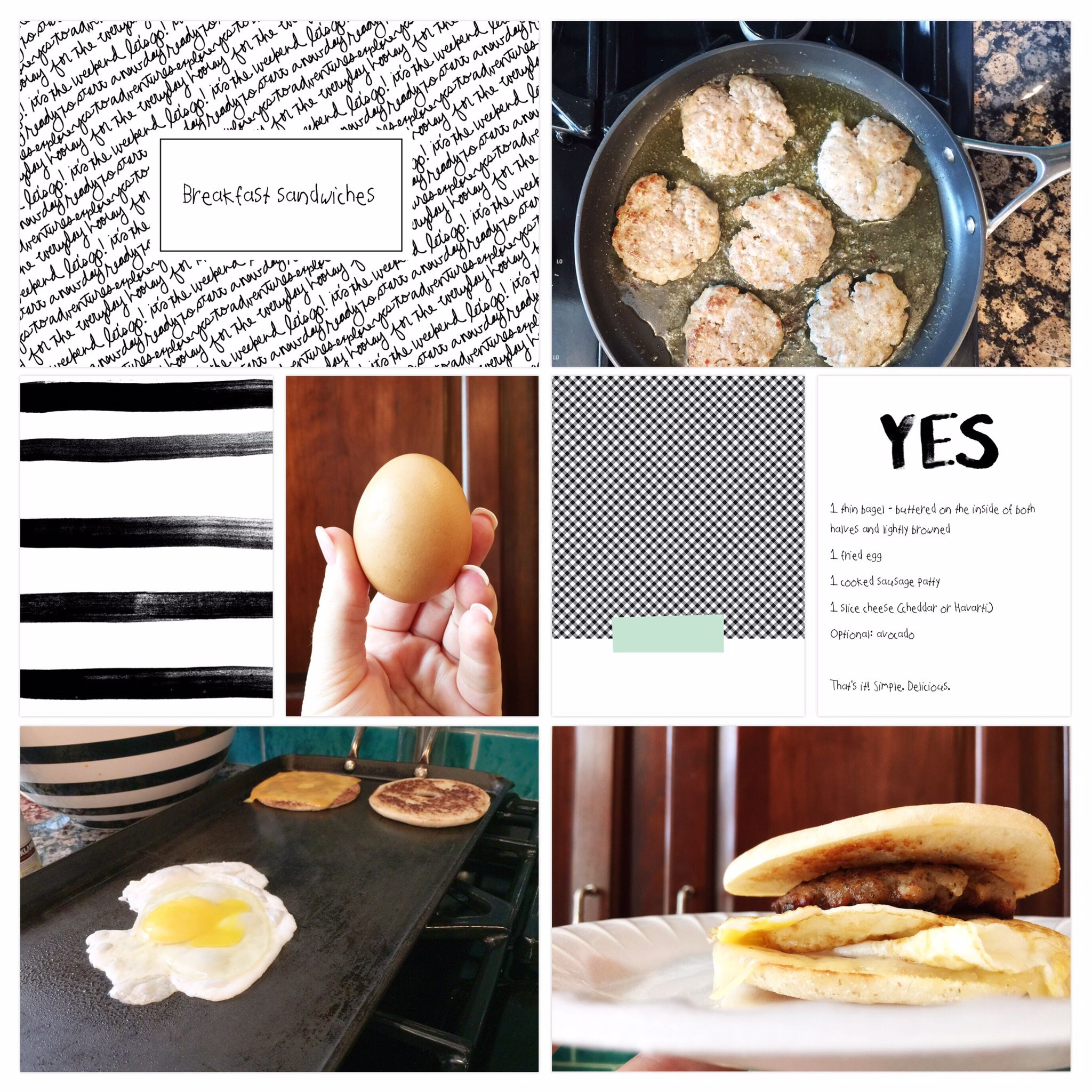 Breakfast sandwiches page created using the project life app by food forumfinder Choice Image