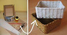 4928dd65d Pletenie jednoduchého košíka z papiera bez vypletaného dna. Košík pletený z  papiera Staré letáky, noviny. DIY nápad a návod ako vyrobiť praktický košík  ...