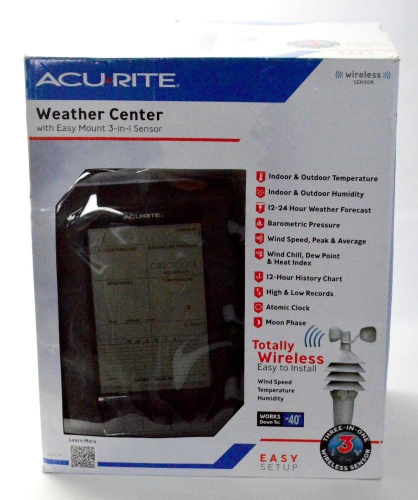 acu rite professional wireless backyard 00634 weather station
