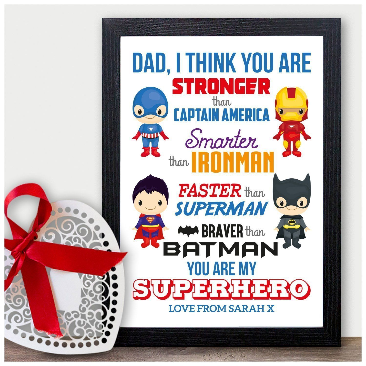 3af78fe08 Gifts for Dad, Stronger than, superhero gift, batman, best Daddy gift,  Super Daddy, Fathers day, dads birthday