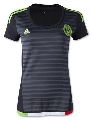 cfe3ccfa6c7dc 2015-2016 Womens Mexico Black Jersey | Women Soccer Country Jerseys ...